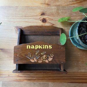 Vintage Wooden Napkin Holder